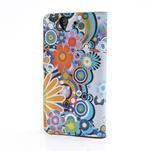 Peňaženkové puzdro pre Sony Xperia Z C6603 - farebné vzory - 2/7