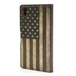 Peňaženkové puzdro pre Sony Xperia Z1 C6903 L39- USA vlajka - 2/7