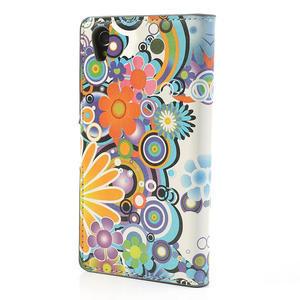 Peněženkové pouzdro na Sony Xperia Z1 C6903 L39- barevné květy - 2