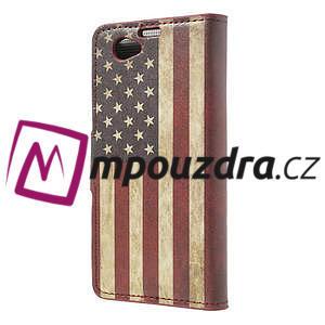 Peňaženkové puzdro pre Sony Xperia Z1 Compact D5503 - USA vlajka - 2