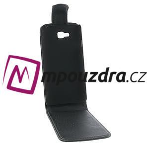 Flipové kožené puzdro na LG Optimus L9 II D605 - čierné - 2