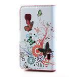 Peňaženkové puzdro pre LG Optimus L5 Dual E455-barevní motýli - 2/5