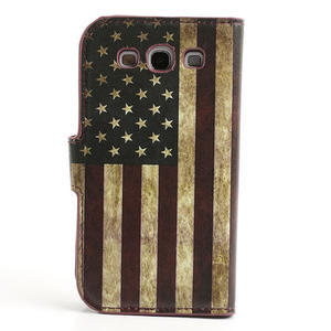Peňaženkové puzdro pre Samsung Galaxy S3 i9300- USA vlajka - 2