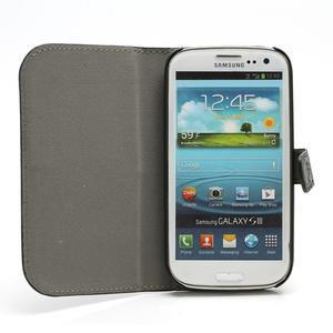 Peňaženkové puzdro pre Samsung Galaxy S3 i9300- čierné - 2