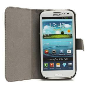 Peňaženkové puzdro na Samsung Galaxy S3 i9300- biele - 2