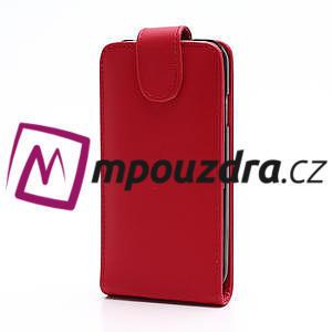 Flipové pouzdro pro Samsung Galaxy S4 i9500- červené - 2