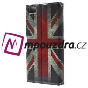 Flipové puzdro na Xiaomi Mi3- UK vlajka - 2