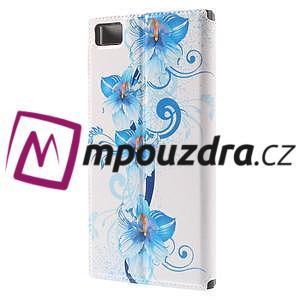 Flipové puzdro na Xiaomi Mi3- modrá lilie - 2