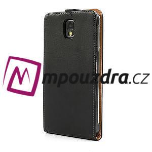 Flipové kožené puzdro na Samsung Galaxy Note 3- čierné - 2