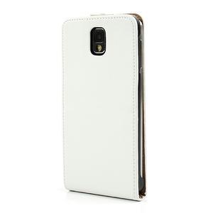 Flipové kožené puzdro na Samsung Galaxy Note 3- biele - 2