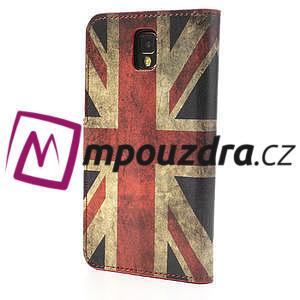 Peňaženkové  puzdro pre Samsung  Galaxy Note 3- UK vlajka - 2