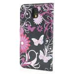 Peňaženkové puzdro na Samsung Galaxy Note 3- motýlci - 2/7