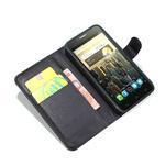 Peňaženkové kožené puzdro na Alcatel One Touch Idol OT-6030D- čierné - 2/6