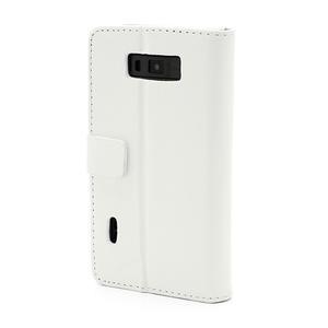 Peňaženkové puzdro na LG Optimus L7 P700 - biele - 2
