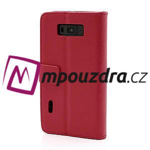 Peňaženkové puzdro na LG Optimus L7 P700 - červené - 2