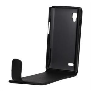 Flipové puzdro na LG Optimus L9 P760 - čierné - 2