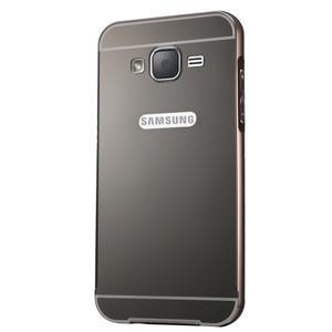 Odolný obal s kovovým obvodem na Samsung Galaxy J5 (2016) - černý - 2