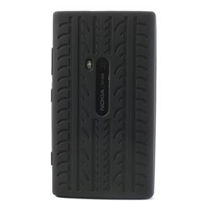 Silokonové PNEU puzdro na Nokia Lumia 920-čierné - 2