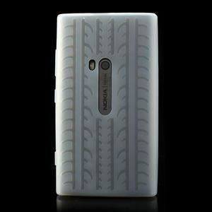Silokonové PNEU puzdro na Nokia Lumia 920- biele - 2