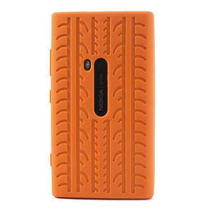 Silokonové PNEU puzdro na Nokia Lumia 920- oranžové - 2