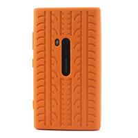 Silokonové PNEU puzdro na Nokia Lumia 920- oranžové - 2/5