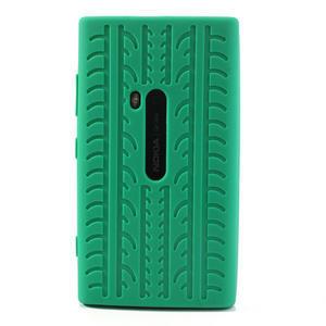 Silokonové PNEU puzdro na Nokia Lumia 920- zelené - 2