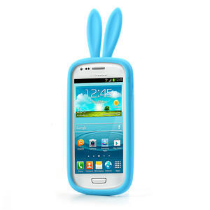 Silikonový králík pro Samsung Galaxy S3 mini i8190- modrý - 2