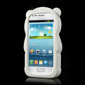 3D Silikonové puzdro pre Samsung Galaxy S3 mini / i8190 - vzor žltá panda - 2