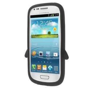 Silikonový tučniak puzdro pre Samsung Galaxy S3 mini i8190- čierny - 2