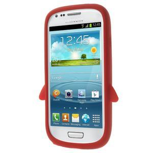 Silikonový TUČŃÁK puzdro na Samsung Galaxy S3 mini i8190- červený - 2