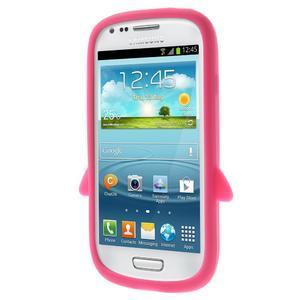 Silikonový tučniak puzdro pre Samsung Galaxy S3 mini i8190- ružový - 2