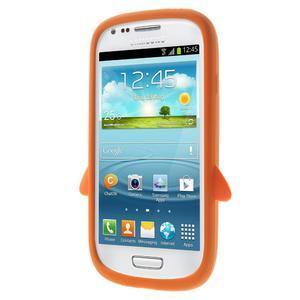 Silikonový TUČŃÁK puzdro na Samsung Galaxy S3 mini i8190- oranžový - 2