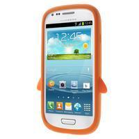 Silikonový TUČŃÁK puzdro na Samsung Galaxy S3 mini i8190- oranžový - 2/7