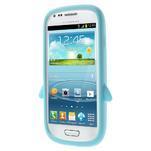 Silikonový TUČŃÁK puzdro na Samsung Galaxy S3 mini i8190- světlemodrý - 2/7