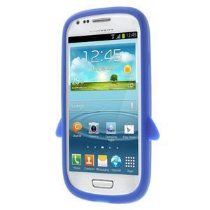 Silikonový tučniak puzdro pre Samsung Galaxy S3 mini i8190- modrý - 2