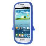 Silikonový tučniak puzdro pre Samsung Galaxy S3 mini i8190- modrý - 2/7