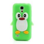 Silikon 3D TUČŇÁK pro Samsung Galaxy S4 mini i9190- zelený - 2/5