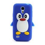 Silikon 3D TUČŇÁK pro Samsung Galaxy S4 mini i9190- modrý - 2/5