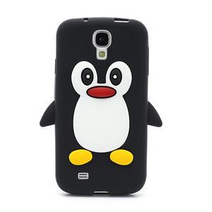 Silikonový Tučniak puzdro pro Samsung Galaxy S4 i9500- čierný - 2