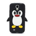 Silikonový Tučniak puzdro pro Samsung Galaxy S4 i9500- čierný - 2/3