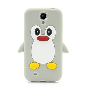 Silikonový Tučňák pouzdro pro Samsung Galaxy S4 i9500- šedý - 2