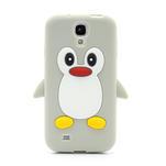 Silikonový Tučňák pouzdro pro Samsung Galaxy S4 i9500- šedý - 2/7