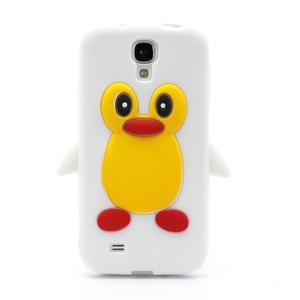 Silikonový Tučňák pouzdro pro Samsung Galaxy S4 i9500- bílý - 2