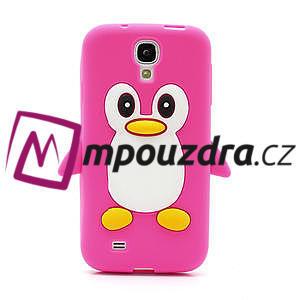 Silikonový Tučniak puzdro pro Samsung Galaxy S4 i9500- ružový - 2