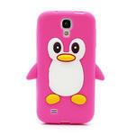 Silikonový Tučniak puzdro pro Samsung Galaxy S4 i9500- ružový - 2/5
