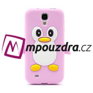 Silikonový Tučňák pouzdro pro Samsung Galaxy S4 i9500- světle-růžový - 2