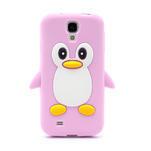 Silikonový Tučniak puzdro pro Samsung Galaxy S4 i9500- svetlo-ružový - 2/7