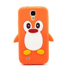Silikonový Tučniak puzdro pro Samsung Galaxy S4 i9500- oranžový - 2