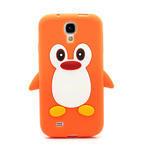 Silikonový Tučniak puzdro pro Samsung Galaxy S4 i9500- oranžový - 2/6