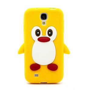 Silikonový Tučňák pouzdro pro Samsung Galaxy S4 i9500- žlutý - 2